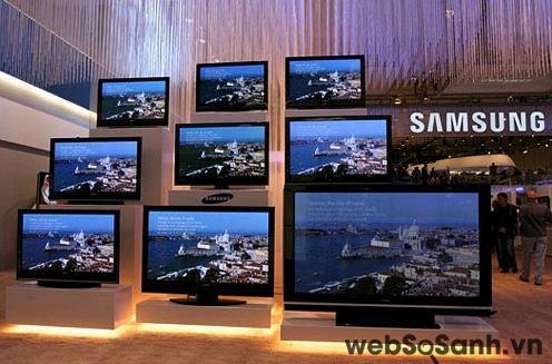 Samsung dẫn đầu thị trường TV phẳng toàn cầu. Nguồn Internet.
