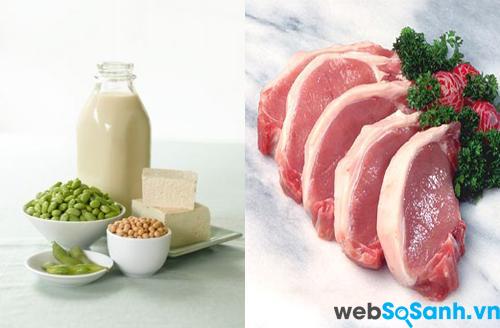 Thịt lợn và đậu tương rất kị nhau