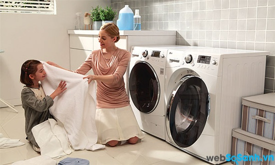 chức năng giặt hơi nước giúp giảm thiểu tối đa chất gây dị ứng trong đồ