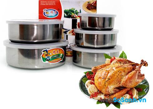 Nên dùng đồ chứa thực phẩm bằng inox