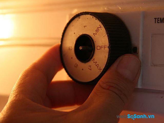 Khi trong tủ lạnh không quá nhiều thực phẩm thì bạn không nên sử dụng mức nhiệt quá lạnh
