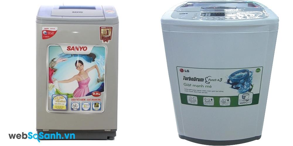 Sanyo ASW-U800Z1T và LG WFS1215TT (nguồn: internet)