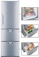 Tủ lạnh Hitachi R-S37SVG - 365 lít, 3 cửa, Inverter