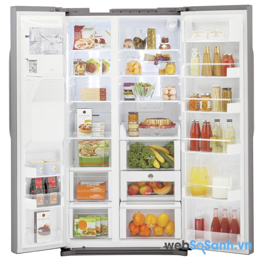 Tủ lạnh side by side là dòng tủ lạnh cao cấp