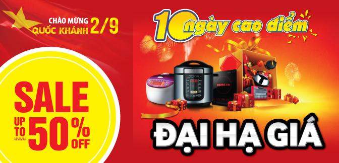 Tổng hợp khuyến mãi các siêu thị điện máy nhân dịp Quốc khánh 2/9/2015 tại Hà Nội