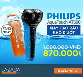 [ Lazada.vn ] Mua máy cạo râu Philips AT600 + Tặng 1 bình nước Lock&Lock màu sắc ngẫu nhiên