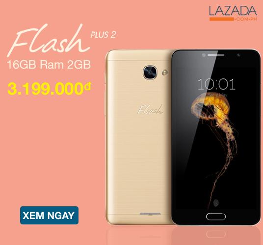 [ Lazada.vn ] Sở hữu ngay Flash Plus 2 16Gb Ram 2GB (Vàng) chỉ với 3.199.000. Duy nhất tại Lazada. XEM NGAY!