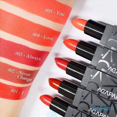 Bảng màu của Agapan Pit A Pat Matte Lipstick